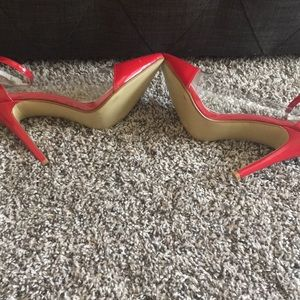 Shoes - Shiny red heels.